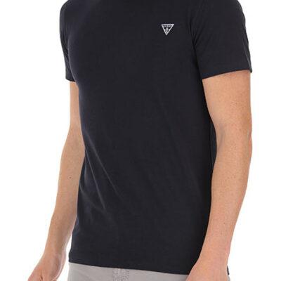 T-shirt GUESS uomo tinta unita con piccolo logo