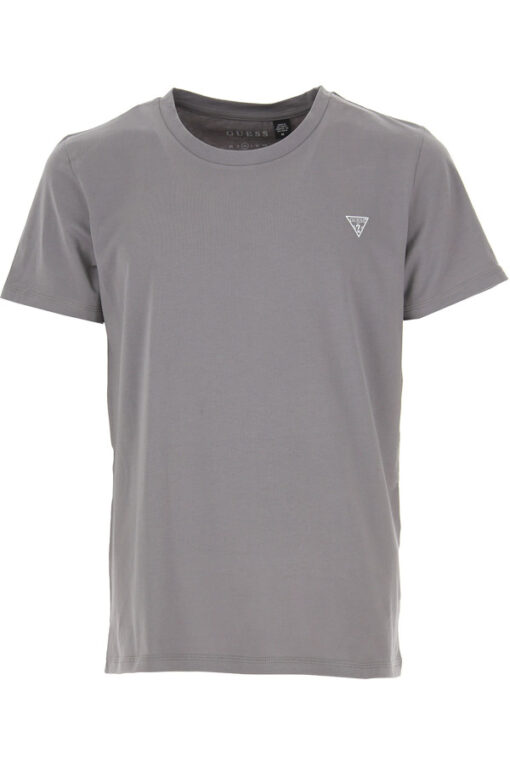 T-shirt GUESS uomo tinta unita con piccolo logo-5