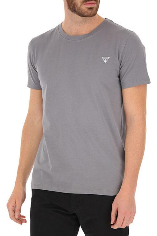 T-shirt GUESS uomo tinta unita con piccolo logo-1