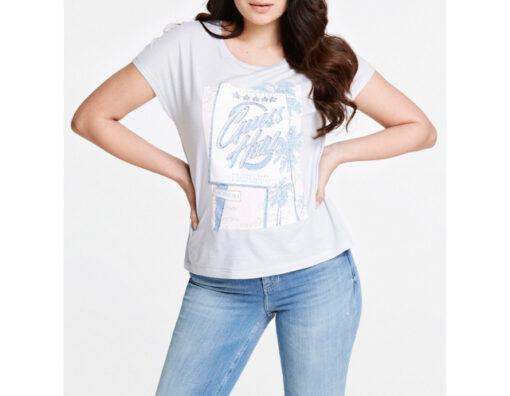 GUESS t-shirt con stampa e applicazioni regular fit