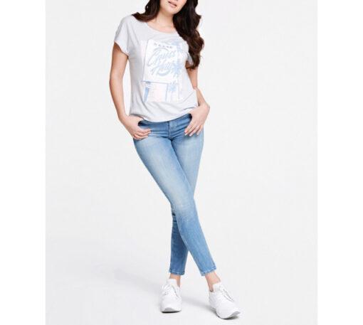 GUESS t-shirt con stampa e applicazioni regular fit-2