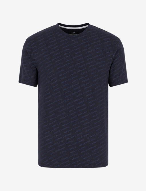 ARMANI EXCHANGE maglietta uomo cono scritte logo all over-2