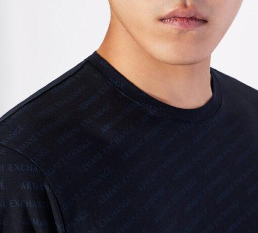ARMANI EXCHANGE maglietta uomo cono scritte logo all over-1