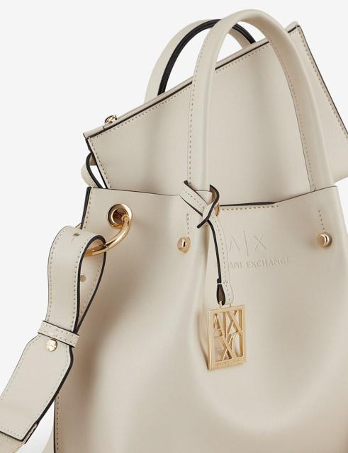ARMANI EXCHANGE borsa donna con tracolla e charm logato-7