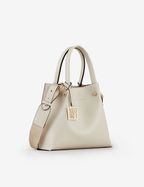 ARMANI EXCHANGE borsa donna con tracolla e charm logato-5