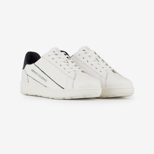 ARMANI EXCHANGE sneakers in pelle in tinta unita da uomo-5
