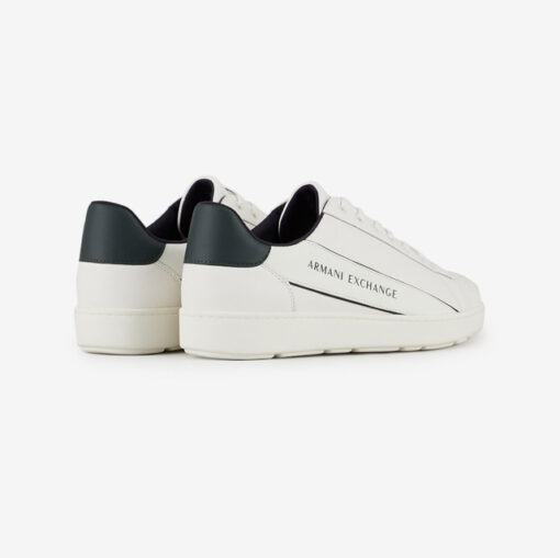 ARMANI EXCHANGE sneakers in pelle in tinta unita da uomo-7
