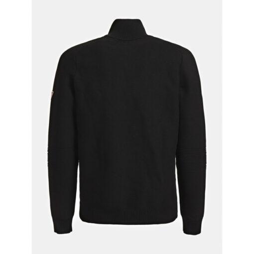 GUESS cardigan lupetto nero con zip da uomo-3