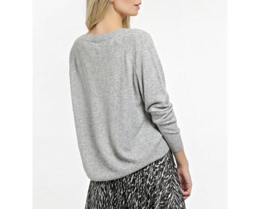 GUESS maglia grigio chiaro a v donna-3