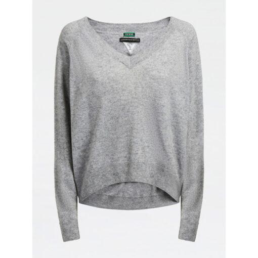 GUESS maglia grigio chiaro a v donna-2