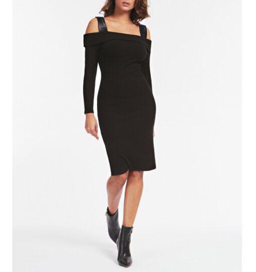vestito donna nero GUESS a manica lunga