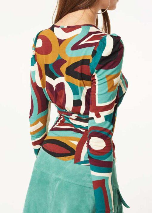 Denny Rose maglia in viscosa stampata-1