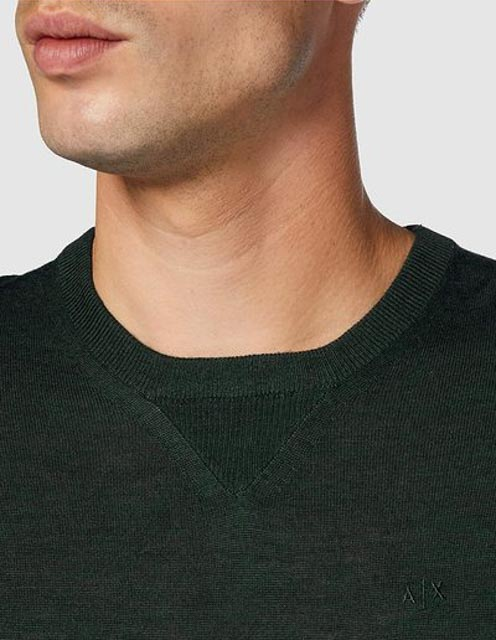 ARMANI EXCHANGE maglia girocollo da uomo in tinta unita-11