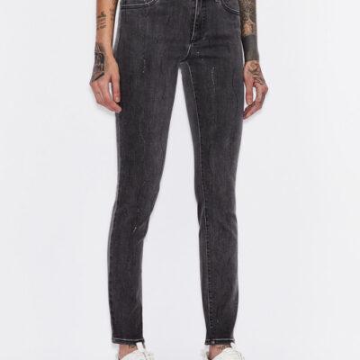 ARMANI EXCHANGE jeans grigio donna con strass