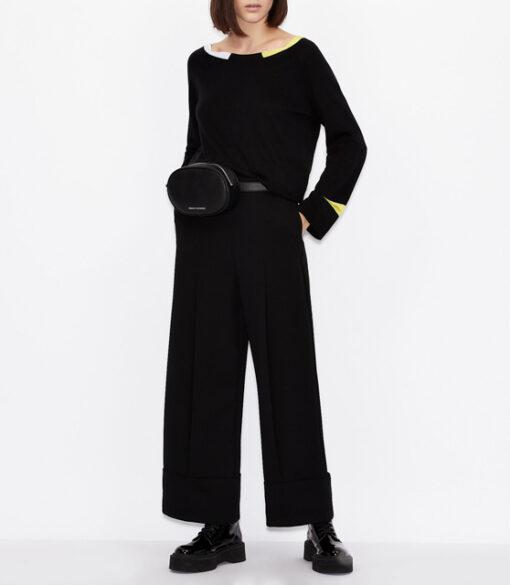 ARMANI EXCHANGE maglia donna in cotone e cashmere-9