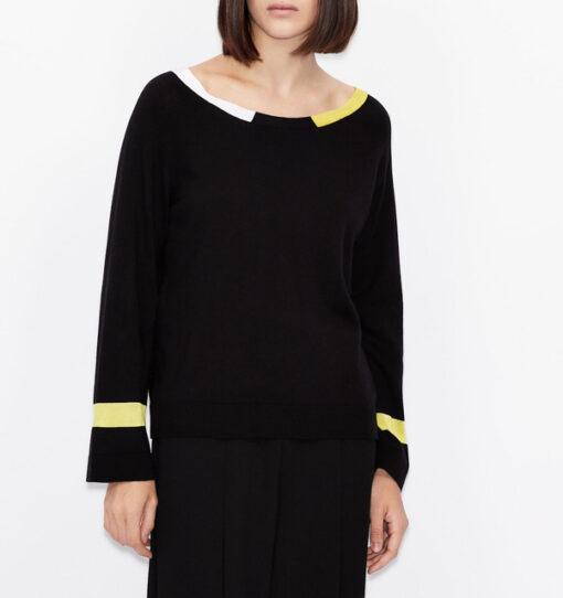 ARMANI EXCHANGE maglia donna in cotone e cashmere-1