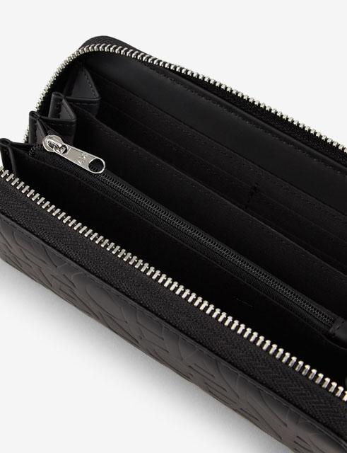 ARMANI EXCHANGE portafoglio nero logato da donna-2