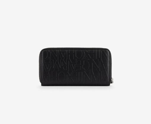 ARMANI EXCHANGE portafoglio nero logato da donna-1
