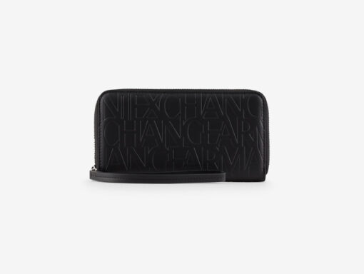 ARMANI EXCHANGE portafoglio nero logato da donna