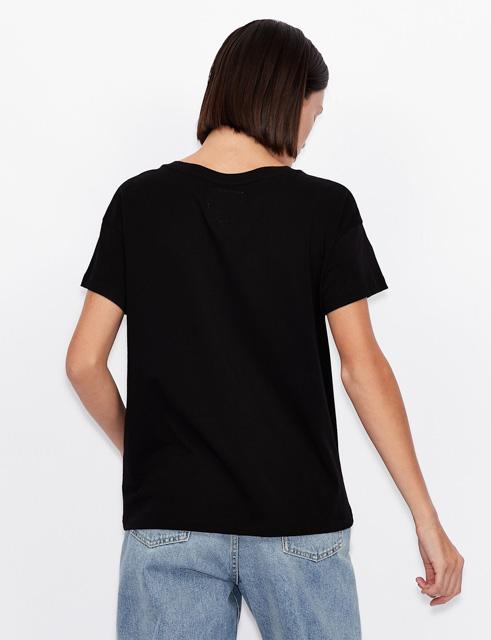 maglietta da donna Armani con logo A|X borchiato-6