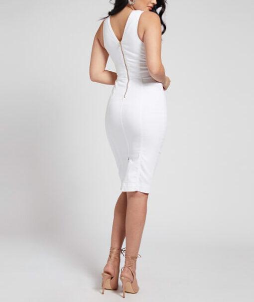 Abito tubino in jeans bianco GUESS-2