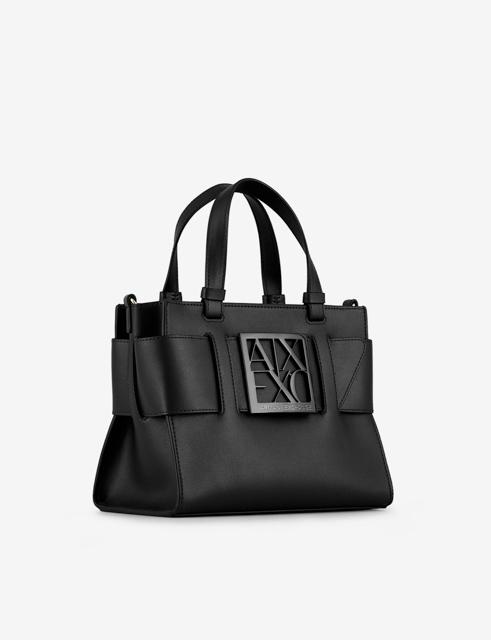 ARMANI EXCHANGE borsa da donna nera a bauletto con zip-1