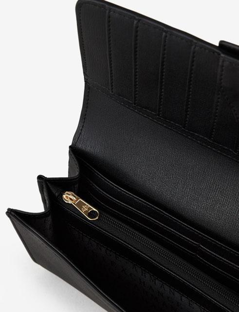 portafoglio donna ARMANI EXCHANGE con placca in metallo-2