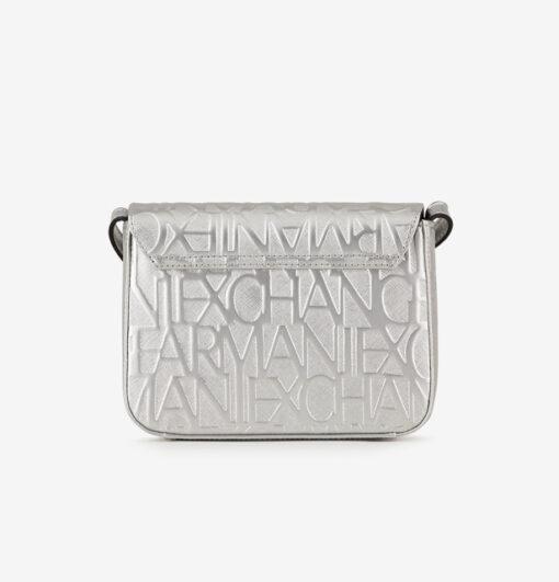 Borsa Armani Exchange logata in vernice con pattina -5