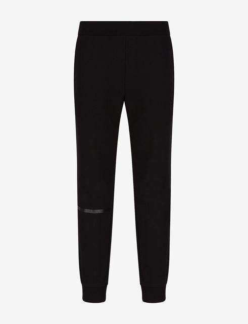 Pantalone Armani nero in felpa da uomo-4
