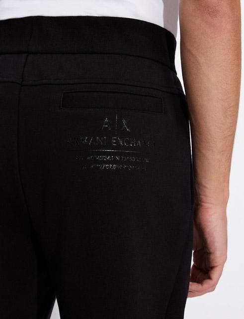 Pantalone Armani nero in felpa da uomo-2