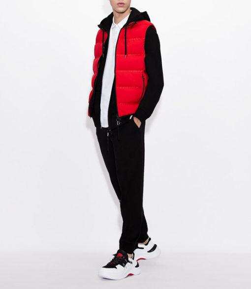 Pantalone Armani nero in felpa da uomo-1