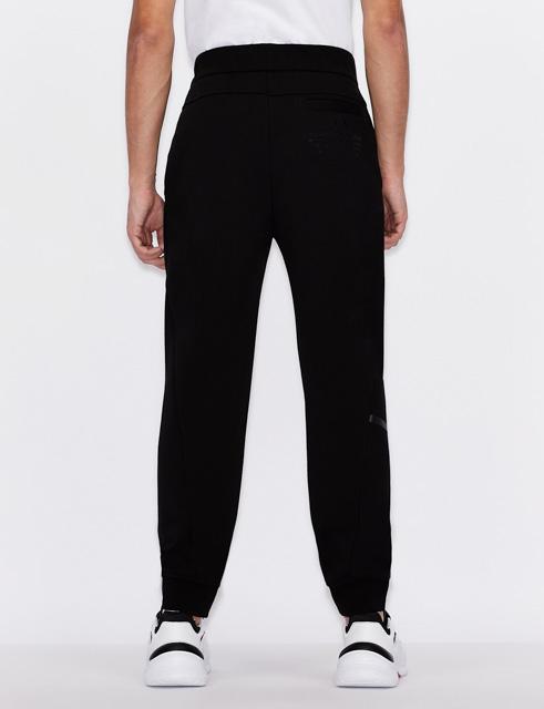 Pantalone Armani nero in felpa da uomo
