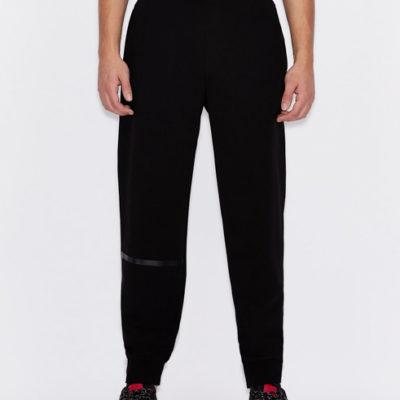 Pantalone Armani nero in felpa da uomo-5