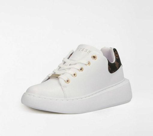 GUESS scarpa sportiva bianca da donna con logo 4G-3