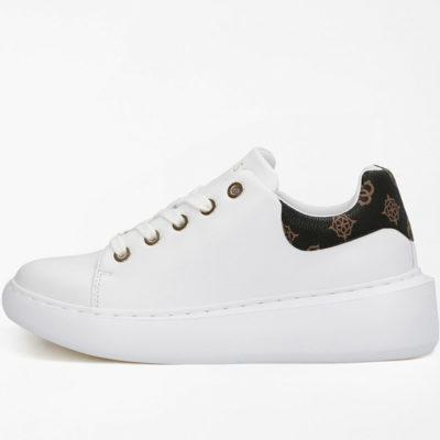 GUESS scarpa sportiva bianca da donna con logo 4G