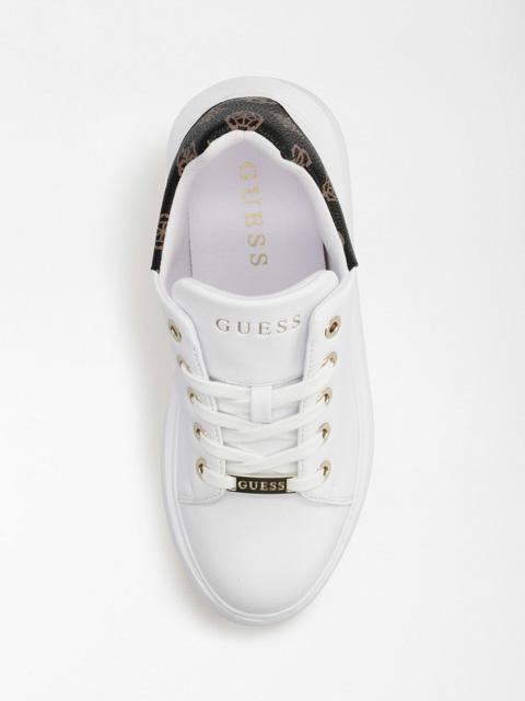 GUESS scarpa sportiva bianca da donna con logo 4G-2