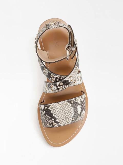 GUESS sandalo donna basso legato alla caviglia-4