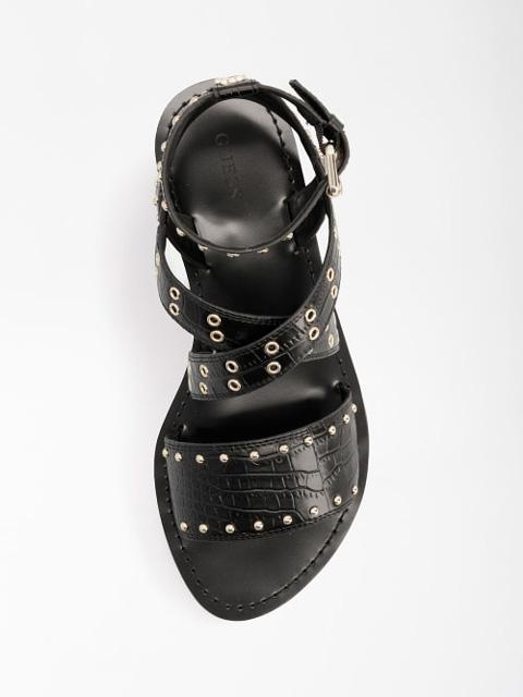 GUESS sandalo donna basso legato alla caviglia-5