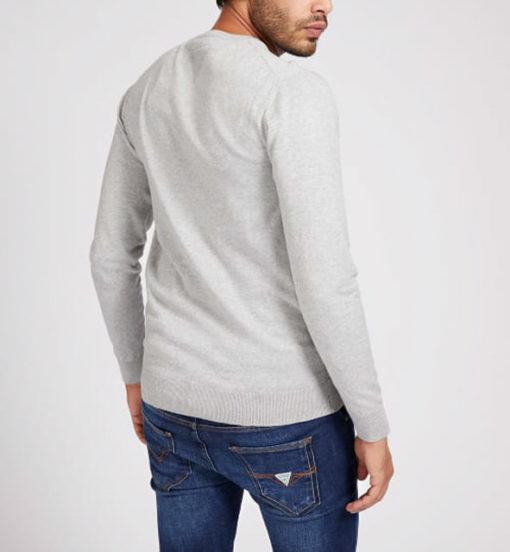 maglione grigio chiaro GUESS girocollo da uomo-2