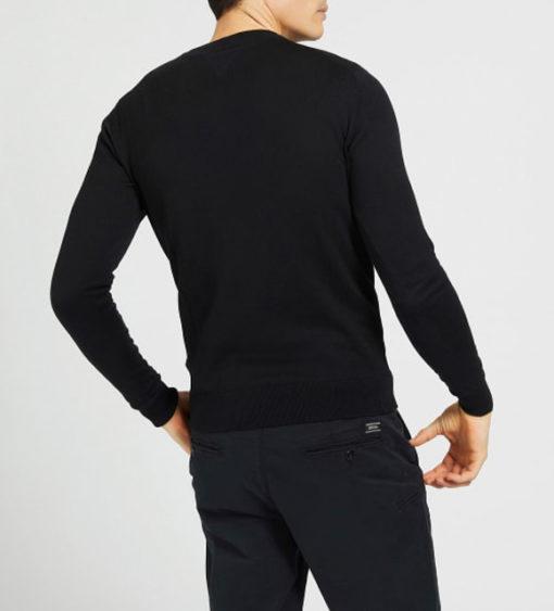 maglione nero GUESS uomo girocollo-1
