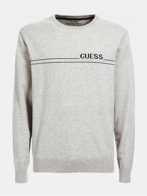 maglione grigio chiaro GUESS girocollo da uomo-1