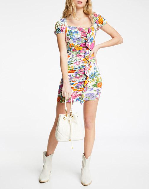 DENNY ROSE abito donna corto fantasia a fiori-3