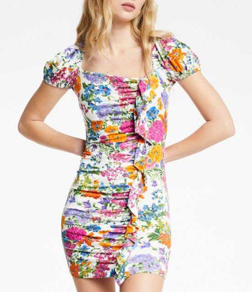 DENNY ROSE abito donna corto fantasia a fiori