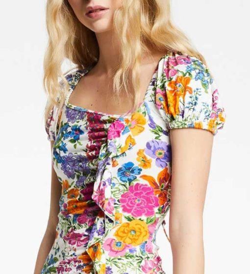 DENNY ROSE abito donna corto fantasia a fiori-1