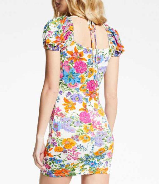 DENNY ROSE abito donna corto fantasia a fiori-2