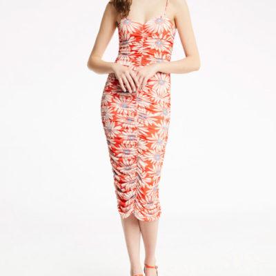 abito DENNY ROSE con spalline sottili e stampa floreale