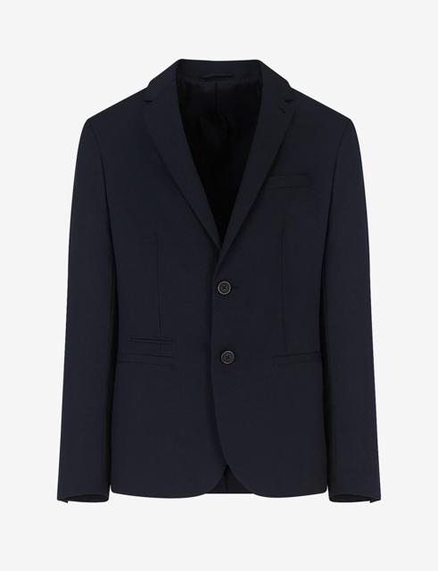 ARMANI EXCHANGE giacca blu da uomo con due bottoni-5