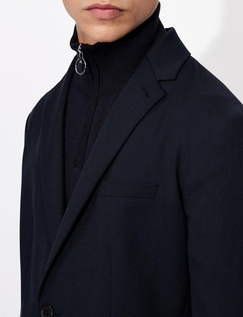 ARMANI EXCHANGE giacca blu da uomo con due bottoni-1