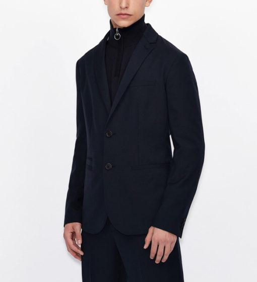 ARMANI EXCHANGE giacca blu da uomo con due bottoni