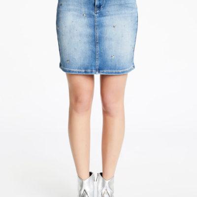 Gonna jeans con applicazioni DENNY ROSE